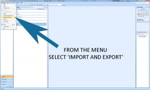 Outlook Import export menu